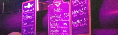 Ardoise du bar #1