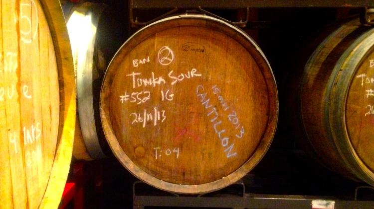 Saison du Tongka sûre avec levures de Cantillon