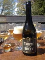 3- À La Fût - Triple À La Brett: mon coup de coeur, cette année se trouve à St-Tite en Mauricie ! J'ai eu la chance de leur rendre visite et mes préjugés sont tombés ! Je dois affirmer ne pas être un grand fanatique de leurs bières en général, mais toutes leur nouvelles bières en format de 750ml se démarquent. Celle-ci principalement. Je suis bien heureux d'avoir la chance de boire plus de bières sûres, de leur part. La rondeur du corps de cette triple va à merveille avec la sécheresse des levures de brett !